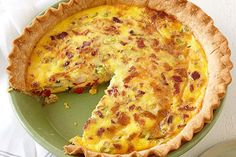 Bacon and Cheese Quiche Recipe - My Food and Family