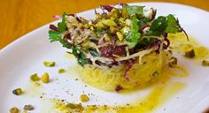 Rick Martin's spaghetti squash salad (with chicken)
