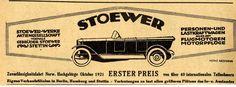 STOEWER-WERKE STETTIN Zuverlässigkeitsfahrt Norw. Historische Reklame von 1922 | eBay