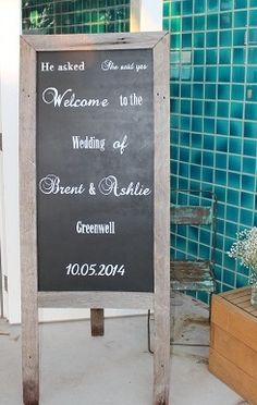 Welcome to the wedding of - blackboard - For Sale @ www.celebrationblackboards.com.au