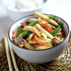 Eating out while traveling: Ethnic Vegetarian Foods - Vegetarian Stir Fry