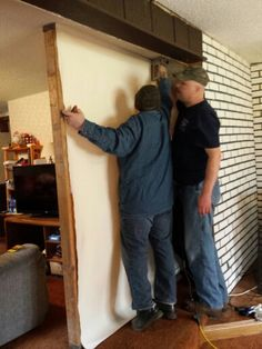 mike and matt building temporary walls - Temporary Walls
