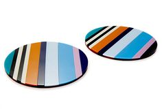 "Pet peeve.  Blind allegiance to uber hyped brand.  Missoni can be nice, but $270 for a set of two rubber 5"" coasters???  People, please use your heads."