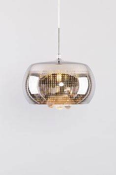 Contemporary glass lampshade chrome colour design chandelier with hanging crystals pendant light ideal for bedroom, hallway, living room, kitchen ceiling light
