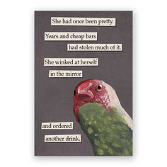 Wink Magnet Bird Humor Gift Stocking by MincingMockingbird