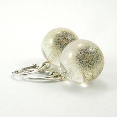Small+Dandelion+Resin+Earrings+van+Sylwia+Calus+op+DaWanda.com