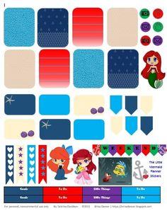 Sabrina Davidson: Planner Stickers: The Little Mermaid
