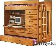 twin loft bed with desk and dresser - Google Search