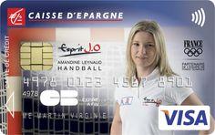Envie d'avoir une carte bancaire à l'effigie d'Amandine Leynaud ? Rendez-vous sur www.caisse-epargne.fr/EspritJO pour la commander ou adressez-vous directement à votre conseiller !