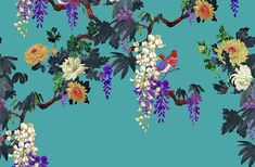 Tapeta z motywem kwiatowym RASCH kolekcja ETRO II Larp, Diagram, Fabrics