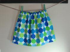 Girls Skirt Twirl Skirt Blue Dots Big Dots by SouthernSeamsKids