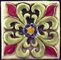 #floral #tile Mosaic Tile Art, Art Tiles, Flower Tiles, Pottery Place, Earth Song, Tile Stores, Handmade Tiles, Style Tile, Wall And Floor Tiles