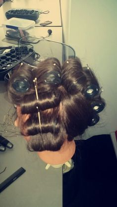 First attempt at hot rollers.