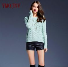 YMOJNV Women's Sweater 2017 New Autumn Classic Style Casual Sweater Female Pullover O-Neck Long Sleeve Computer Knitted Sweater