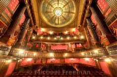 The lavish auditorium of St Martin's Theatre. The theatre has approximately 550 seats spread over three levels, Orchestra Stalls, Dress Circle and Upper Circle. Play Run, What Lies Beneath, London Theatre, West End, Agatha Christie, Auditorium, Concert Hall, Orchestra