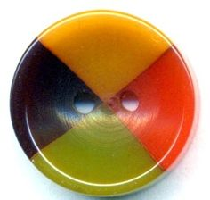 4 Color Bakelite Button…Orange Green Butterscotch and Brown | eBay