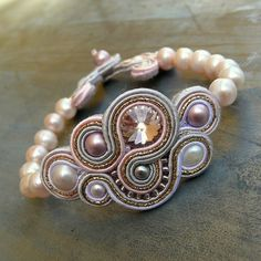 alliumflower | Iconosquare Soutache Bracelet, Soutache Jewelry, Boho Jewelry, Jewelery, Handmade Jewelry, Jewelry Design, Bead Embroidery Jewelry, Beaded Embroidery, Shibori