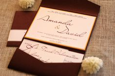 Wedding Invitation Contemporary Calligraphy Seen in Merlot, Gold and Silver. $150.00, via Etsy. www.nine7ohdesigns.com