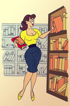 Retro Pinup and Librarian (I thought I recognised you).