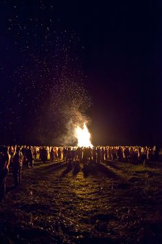 Russian Pagans celebrate Kupala, old traditional holiday of solstice.  Photographer lehoslav  #photography #nightscape #bonfire