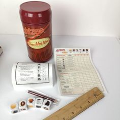 Includes 5 Custom Tim Horton Dice along with custom score pad, pencil, and rules! Must have for Tim Horton Lovers! Tim Hortons, The Collector, Ebay