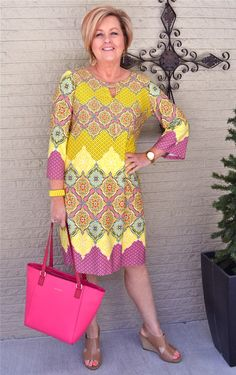50 is not old 40 day challenge dress spring outfit fashion over 40 for the Spring Fashion Outfits, Summer Dress Outfits, Women's Fashion Dresses, Casual Dresses, Flattering Dresses, 50s Dresses, Trendy Dresses, Winter Dresses, Fashion Clothes