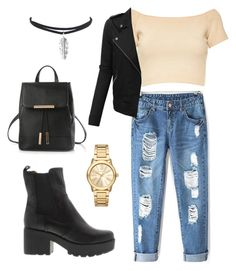 """""""#7"""" by deedee-3p ❤ liked on Polyvore featuring Alice + Olivia, LE3NO and Michael Kors"""