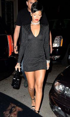 Rihanna in Balmain at VMAs after party