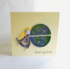 Paper Quilled Card Love Card Valentine's Day Card by ElinaQuills