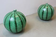 """watermelon"" by Ai Weiwei, 2006, at Lisson Gallery, Milan"