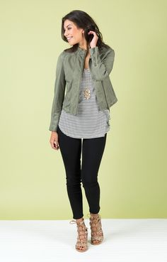 Like the shirt that covers the tummy but not too boxy on the sides- not necessarily striped