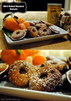 Skip fattening donuts - these baked banana donuts are light and fluffy.