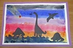 Dino silhouettes - fun!!
