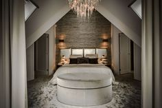 The Netherlands / Private Residence / Bed Room Dream Bedroom, Master Bedroom, Bedroom Lighting, Bedroom Decor, Modern Bedroom Design, Luxury Decor, Luxurious Bedrooms, Luxury Living, Bed Room