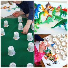 Dinosaur Alphabet Matching Activity for Preschoolers
