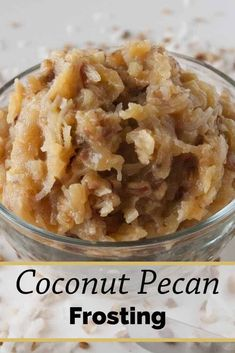 Coconut Pecan Frosting (aka German Chocolate Cake Frosting) is so easy to make! Let me show you the simple secret to making it perfect every time! #coconutpecanfrosting #germanchocolatecakefrosting #MCO Frost Cupcakes, Köstliche Desserts, Dessert Recipes, Icing Recipes, Pecan Recipes, Cake Filling Recipes, Health Desserts, Food Cakes, Cupcake Cakes