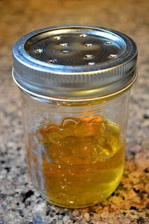Get Rid of Fruit Flies the Natural Way  Jar with lid 1/2 cup Apple Cider Vinegar 2 drops Dish Soap... THIS works like a champ.. I used a baby food jar and didn't put a lid on it and the amount if fruit flies it attracted and killed was amazing!!