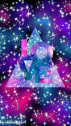 LOVE galaxy wallpaper I created for the app CocoPPa