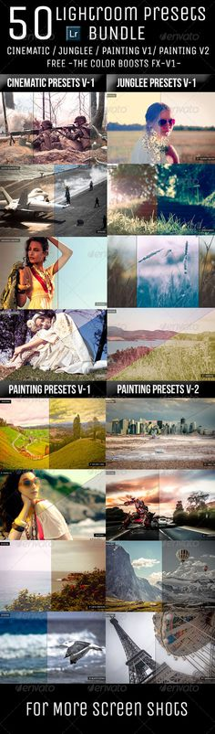 50 Lightroom Presets Bundle