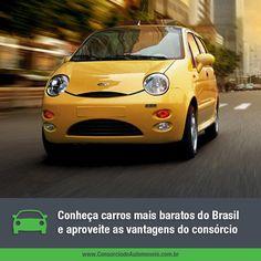 No Brasil, atualmente, o modelo com menor preço é o Chery QQ. Veja na matéria: https://www.consorciodeautomoveis.com.br/noticias/os-carros-mais-baratos-do-brasil-e-do-mundo?idcampanha=206&utm_source=Pinterest&utm_medium=Perfil&utm_campaign=redessociais