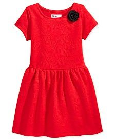 Epic Threads Quilted Geo-Pattern Dress, Toddler Girls (2T-5T) & Little Girls (2-6X), Only at Macy's