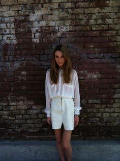 Shop this look on Kaleidoscope (blouse, skirt)  http://kalei.do/WmGNQnp5sxRrJjcf