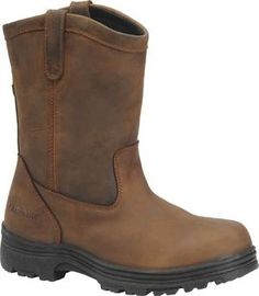 "Men's Carolina 10"" Steel Toe Ranch Wellington - Dark Brown"