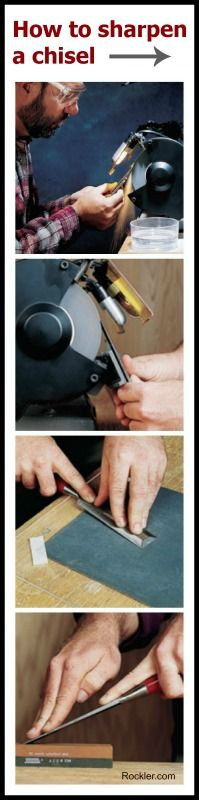 How to Sharpen and Hone Chisel Blades Using Grinding Wheels and Stones. Rockler.com Woodworking Tools