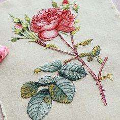 Bilesin; Göğsümde hangi yöne açmış  Tek Gül sün Ya bu eller öpülür Ya sen öldürürsün.. 🌹 #rosa #gul #flower #handmade #kanavice @fistasshhkka 👌