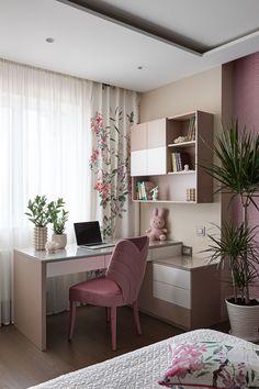 Interior design project by Ma Vie Interiors in Kyiv, Ukraine. Small Room Design Bedroom, Room Ideas Bedroom, Home Room Design, Home Decor Bedroom, Home Interior Design, Study Room Decor, House Rooms, Room Inspiration, Decoration