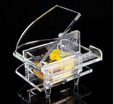 Crystal Glass Music Box-Piano