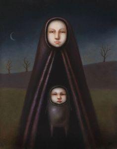 Gallery Page of San Diego based Dark Surrealist Painter Jasmine Worth
