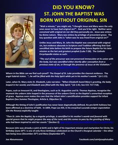 Was St. John the Baptist born without original sin?