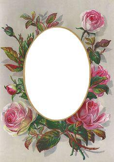 Wings of Whimsy: Rose Frame #vintage #ephemera #freebie #printable #valentine